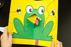 Pop-up Frog Cards!