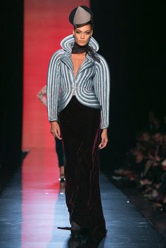 A look from the Jean Paul Gaultier Fall 2013 Couture collection.