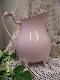 Shabby Chic Pink Pitcher by shersum on Etsy, $26.00