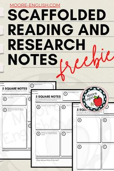 Teaching Main Idea, Teaching Secondary, Comprehension Strategies, Reading Strategies, Teaching Short Stories, Research Skills, Middle School English, Free Lesson Plans, Instructional Strategies