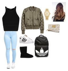 """Untitled #6"" by isajurojas ❤ liked on Polyvore featuring adidas, UGG Australia, Michael Kors, women's clothing, women, female, woman, misses and juniors"