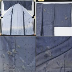"""A lined 'sha' kimono. For the first part of the month, wear lined kimono. Starting in the middle of the month, things like kimono that are unlined on the body part, lined """"ro (gauze)"""", and lined """"sha (gauze)"""" silks can be worn to stylishly hint at the coming season."""