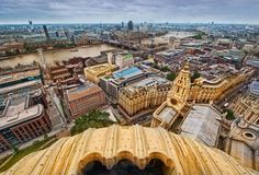 View from the top of St. Paul's Cathedral, London, England -- crazy long winding flight of stairs to get to the top.but totally worth it when you finally get to see the view! Great Places, Places To Go, Beautiful Places, Hdr Photography, Photography Portfolio, London Pictures, Old London, London Calling, Birds Eye View