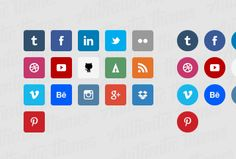 Flat Social Icons • Flat Icons