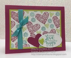 a card a day: Stampin' Up! Love and Hugs from Ribbon of Courage