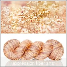 Expression Fiber Arts, Inc. - MOMENTS 'DREAM' SILK LACE yarn - honey peach and neutral taupe, $17.95 (http://www.expressionfiberarts.com/products/moments-dream-silk-lace.html)