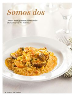 Revista thermomix n⺠84 octubre 2015 por argent Food N, Food Inspiration, Risotto, Make It Simple, Macaroni And Cheese, Curry, Favorite Recipes, Cooking, Ethnic Recipes