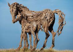 James Doran - driftwood animal sculptures  Sculptures d'animaux en Bois Flottant par James Doran