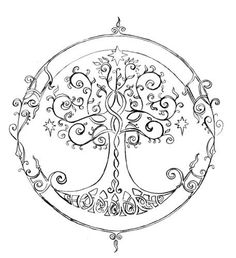 elven tree of life tattoo - Google Search