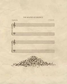 The sound of silence - artist unknown.