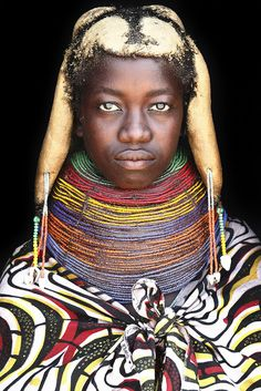 Musanga - sweet african Mumuhuila with a huge neckless / Huila province - South Angola by abgefahren2004, via Flickr