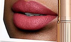 Never before have I seen pores on lips.