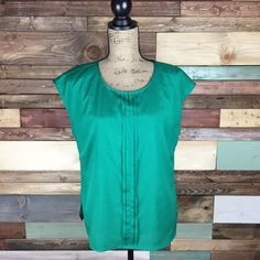 Emerald Green Blouse Perfect layering piece under a chic blazer, great for the office! The Limited Tops Blouses