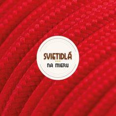 Kábel dvojžilový v podobe textilnej šnúry v červenej farbe Luster, Retro, Colors, Retro Illustration
