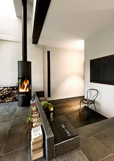 Industrial modern in Italy / fireplace