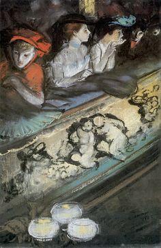 In the Loge, Everett Shinn. American Ashcan School Painter (1876 - 1953)