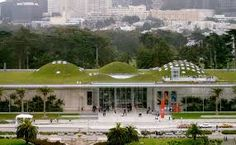 Ecological space + (a little) Social Space (Green roof on California Academy of Sciences) Green Architecture, Landscape Architecture, Landscape Design, Architecture Design, Living Roofs, Renzo Piano, Sky Garden, Earthship, Academia