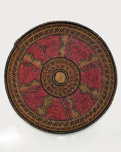 Africa | Basketry platter from the Barabra people of Uganda | Grass and pigments | ca. 1965