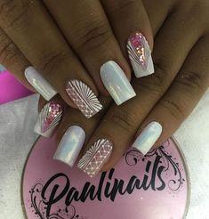 Natural Acrylic Nails, Best Acrylic Nails, Toe Nail Designs, Fall Nail Designs, Gorgeous Nails, Pretty Nails, Manicure, Mandala Nails, Short Nails Art