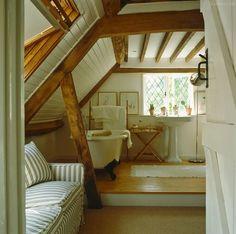 under the eaves English bath