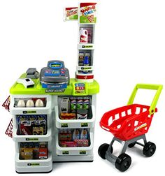 Velocity Toys Green Play House Super Market Children's Kid's Pretend Play Toy Food Play Set w/ Toy Cash Register, Working Scanner, Shopping Cart, Pretend Food and Money (Green) Velocity Toys http://www.amazon.com/dp/B0178FRB1K/ref=cm_sw_r_pi_dp_p-5qwb0PXVKXP