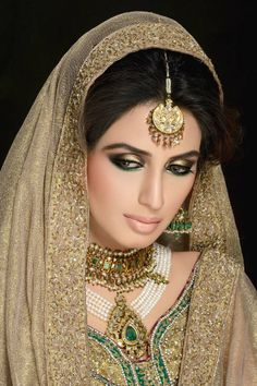 Super model Iman Ali looks radiant in a traditional bridal look by Shahzad Raza. For the complete tutorial visit: http://www.iloveluscious.com/Articles.asp?ID=298 #Beauty #Makeup #LusciousCosmetics