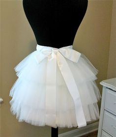 Making my own tulle tutu skirt. One day