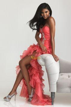 2013 Prom Dresses New Arrival Prom Dresses Mermaid/Trumpet Split Front High Low