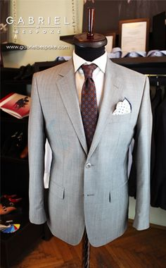 Grey business suit. Made to measure. Gabriel Bespoke  #grey #suit #madetomeasure #gabriel #bespoke