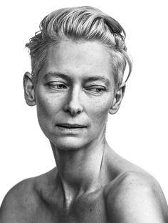 Tilda Swinton, schottische Schauspielerin, fotografiert von Andy Gotts