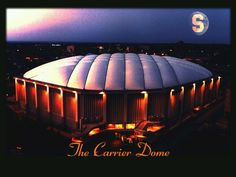 The Carrier Dome in Syracuse, NY