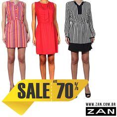 Além de femininos, os vestidos são perfeitos para arrasar! #VaideZan