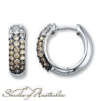1 Carat t.w. Diamond Earrings Round-Cut 14K White Gold