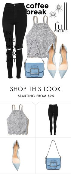 """""""Untitled #215"""" by livingonvee on Polyvore featuring Hollister Co., Topshop, Gianvito Rossi, Tory Burch and Kendra Scott"""