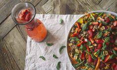 Quinoa, Asparagus, and Strawberry Salad