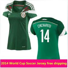 b454a17cd The Mexico natinal team home women soccer jersey 2014 world cup design team  shirt soccer jerseys for women free shipping  16.11 - 19.11