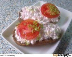 Lehká cottage pomazánka Mango Recipes, No Salt Recipes, New Menu, Party Snacks, Bon Appetit, Ham, Catering, Smoothies, Food And Drink