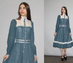Hey, I found this really awesome Etsy listing at https://www.etsy.com/listing/278318492/gunne-sax-vintage-1970s-dress-70s-gunne