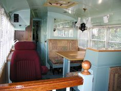 school bus rv conversion pictures | Over all I've tried for a mid-20th century look with a eclectic mix of ...