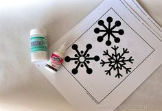 glitter snowflake window clings supplies