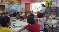 Manila Amity #LionsClub (Philippines) read to preschool children during story-time
