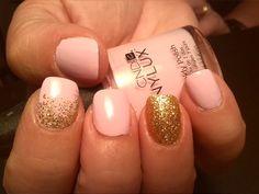 Pretty Jax #gold glitter #glitter fade #valentines #cnd vinylux