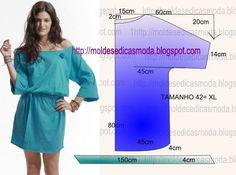 Moldes Moda por Medida: VESTIDO FÁCIL DE FAZER - 34
