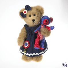 Boyds Bears Samantha Maybearie with Roxie 10' Bear Americana Fashion