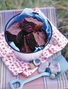 Cherry brownies | This recipe from Xanthe Clay combines deliciously sweet chocolate with gooey cherry to create an incredible brownie. Ready in 45 minutes you can give them a go any day of the week!