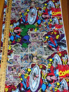 Marvel Superheroes / Marvel Comics Fabric /Break Through Figures /BTY