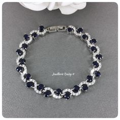 Sapphire Blue Crystal Bridal Bracelet, Wedding Day Bracelet, Bridesmaid Gift, Statement Cubic Zirconia Bracelet, Gifts for Mom Flower Girl Jewelry, Flower Girl Bracelets, Flower Girl Gifts, Girls Jewelry, Flower Bracelet, Pearl Bracelet, Wedding Bracelet, Blue Crystals, Bridal Accessories