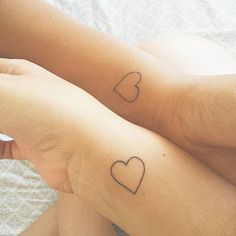 Take your friendship to the next level and get a tattoo with your BFF! If you're looking for something that's not too over the top, we have found some tiny Hp Tattoo, Ankle Tattoo, Get A Tattoo, Tiny Tattoo, Tattoo Flash, Couple Tattoos, Love Tattoos, Small Tattoos, Cat Tattoos