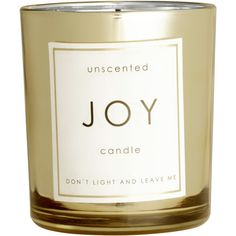 H&M Candle ($5.75) ❤ liked on Polyvore featuring home, home decor, candles & candleholders, gold, unscented candles and round candles