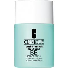 Clinique Anti-Blemish BB Cream SPF 40 ($32) ❤ liked on Polyvore featuring beauty products, makeup, face makeup, tinted moisturizer, clinique, spf tinted moisturizer, clinique tinted moisturizer and oil free tinted moisturizer